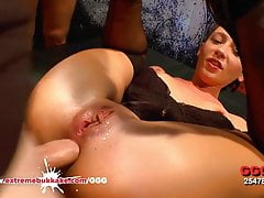 Julie Skyhigh Covered in Sperm - Extreme Bukkake