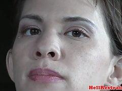 Bound slave screams while cumming