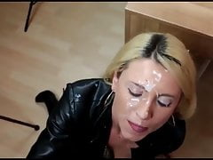 Gorgeous Blonde Gets Fucked on Table By Electrician