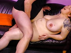 Hardcore fucking with chubby mature German woman