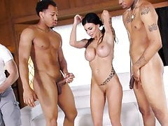 Stepson Hooks Up His Mom With His Buddies - Melissa Lynn