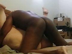 Cumming in a white bbw