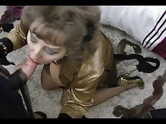British aunt turns slut