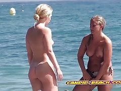 Amazing hot Blonde Nudist Milfs Spied At beach Voyeur Cam