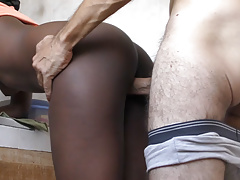 Homemade Interracial Doggystyle Creampie