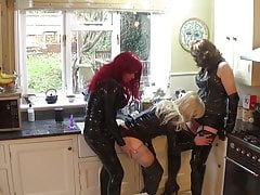 Alison, Zara and Sally - PVC Cock Sucking Crossdressers