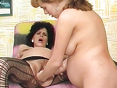 both hands deep in pregnant moms cunt