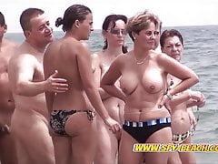 Awesome Nudist Group Voyeur Beach Amateurs Video Part 1