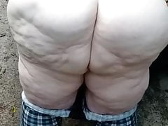 Ssbbw pawg fucking outside public