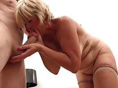 Blonde mature beauty loves sex