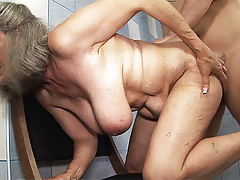 busty 83 year old mom tit fucked