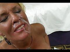 cumshot compilation. Moms get ther faces splattered with cum