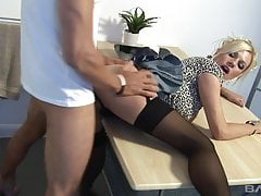 Black Stockings & Heels, MICHELLE THORNE Gets Hard Fucking