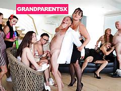 Perverted Grandparents Orgy Part 1
